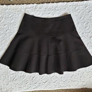 cc7be9d674 Karen Millen Black Flare Godet Pleated Skirt, 10